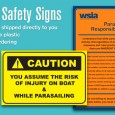High-quality Parasail Safety Signs are now available for online ordering! Get a set shipped directly to your business today.