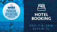 Book your hotel now for the 2018 WSIA Parasail Operators Symposium, returning to beautiful Ruskin, Florida November 7-8. Enjoy on-water demos, educational speakers and seminars, best practices, Q&A, safety experts, and a good time with industry friends!
