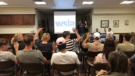The WSIA assembled a meeting with local professional wakeboarders to discuss the importance of the Wake Responsibly campaign.