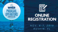 Register online now for the 2019 WSIA Parasail Operators Symposium, returning to beautiful Ruskin, Florida on November 6-7, 2019. Get on the list, and book your hotel now!